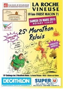 Marathon relais La Roche Vineuse 2015