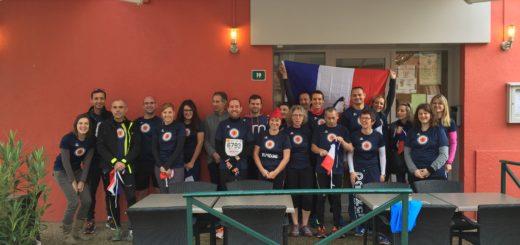 Les participants au Marathon du Beaujolais 2015
