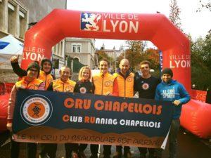 Le CRU chapellois au Lyon Urban Trail by night 26km